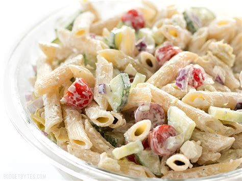 www garlicrecipes ca greek garlic dill dressing pasta creamy lemon dill greek pasta salad budget bytes