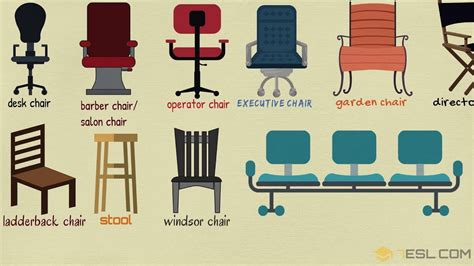 Chair Names - list of chair styles different types of chairs in