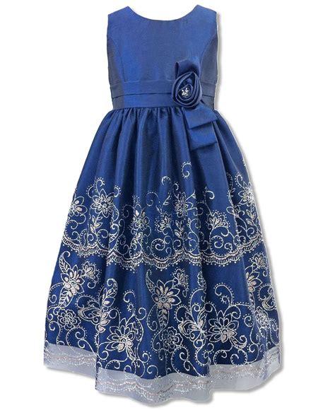 Dress Bordir Glitter jayne copeland dress sparkle flower border dress macy s grandkids dresses