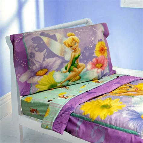 tinkerbell toddler bed set tinkerbell toddler bedding set 4pc disney fairy flowers