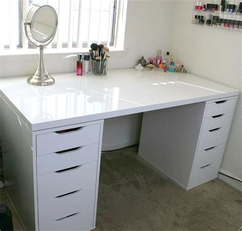 ikea bureu table bureau ikea nice white makeup vanity and storage