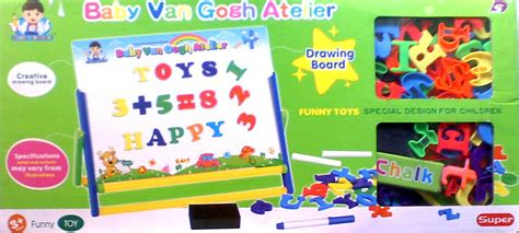 Papan Tulis Anak Papan Tulis Magnet Drawing Board Mainan Eduka mainan pendidikan creative drawing board baby gogh