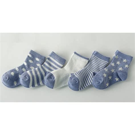 Kaos Kaki Bayi Pattern Size M kaos kaki anak summer toddler socks size m 5 pair blue jakartanotebook