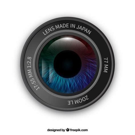 and lens lens with an eye vector free