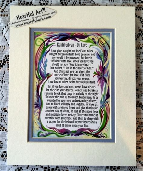 Wedding Anniversary Quotes Kahlil Gibran by On Kahlil Gibran 8x10 Inspirational Quote By Heartfulart