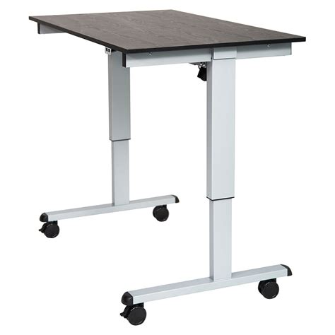Modern Stand Up Desk Malibu 48 Quot Modern Stand Up Desk Silver Black Eurway