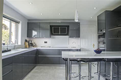 Grey Kitchen Contemporary Grey High Gloss Kitchen Belfast Stormer
