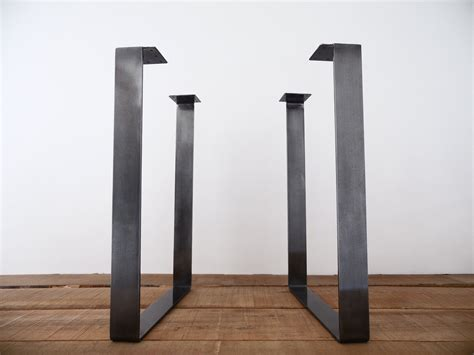 Metal Table Legs by 28 Flat Steel Square Table Legs Height Option