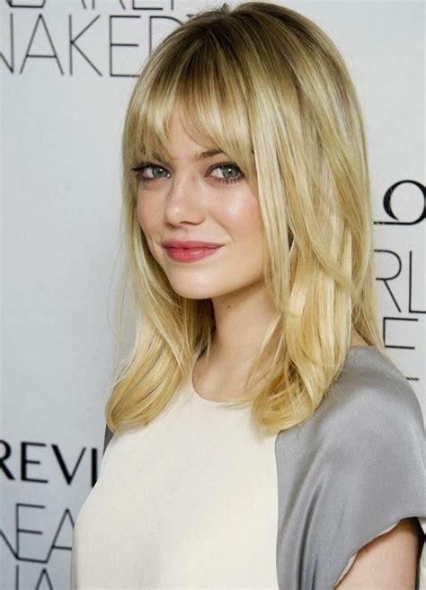 medium hairstyles  bangs  fine hair popular