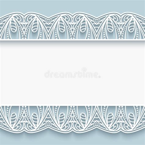 paper lace templates card paper lace border background stock vector image 58991590