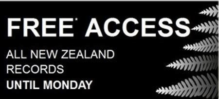 Records New Zealand Ancestry S New Zealand S Records Free Until Monday 19th May