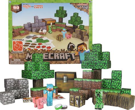 Minecraft Overworld Deluxe Papercraft Pack - minecraft papercraft overworld deluxe set toysrus