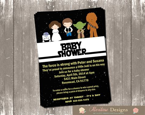 Wars Baby Shower by Wars Baby Shower Invitation Digital File