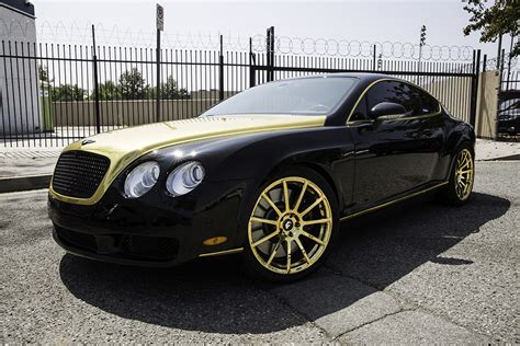 matte gold bentley fort jealous with a set of gold flangiato s