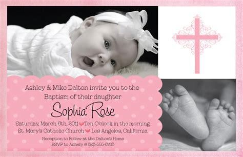invitations for baptism template best template collection