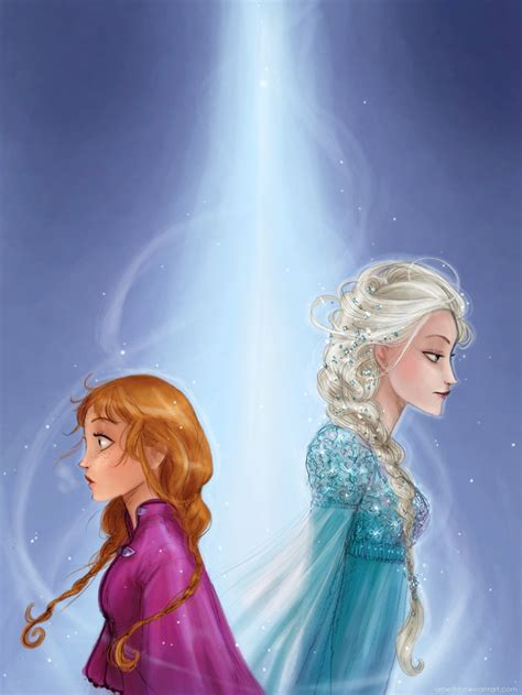 anna elsa frozen fan art 34564297 fanpop