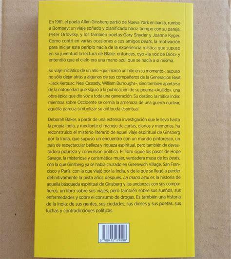 leer poeta en nueva york libro de texto f 243 rcola ediciones 187 la mano azul la generaci 243 n beat en la india