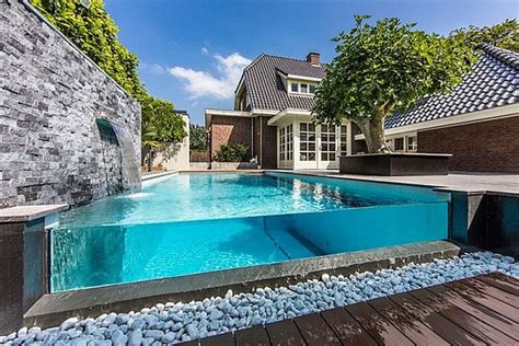 cool backyard wonderful transparent frame of outdoor swimming pool by