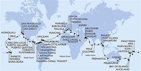 119 day cruise around the world crociera speciale giro del mondo in 119 giorni con msc