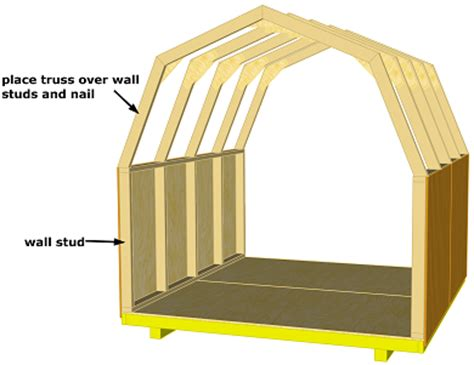 Shed Truss Design by Gambrel Truss Designs This List Use Only Flat Pratt King