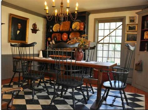 Colonial Dining Room by Chairs Painted Floors And Floors On Pinterest