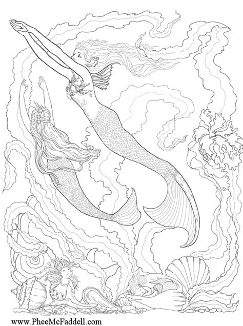 coloring pages for adults mermaid enchanted designs mermaid october 2011