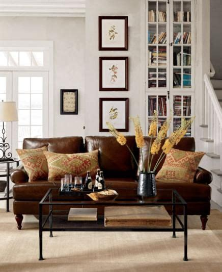 Idea For Replacing The Wet Bar In An 80 S Era Living Room Brown Leather Sofa Living Room Ideas