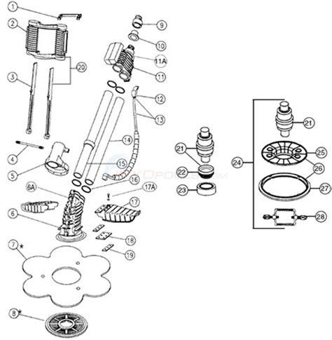 kreepy krauly parts diagram kreepy krauly model pre 93 parts inyopools