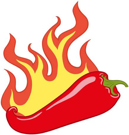 red hot fire red hot pepper with fire vector free vector in