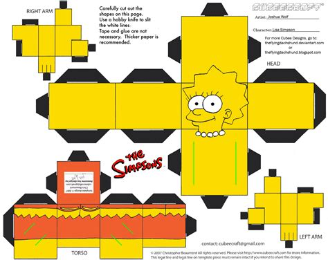 Simpsons Papercraft - simpsons1 cubee by theflyingdachshund on