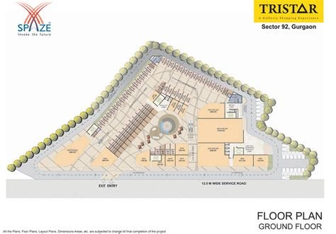 layout plan of kmp expressway spaze tristar sector 92 new commercial project