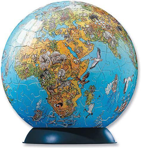 map world globe illustrated world map puzzle globe