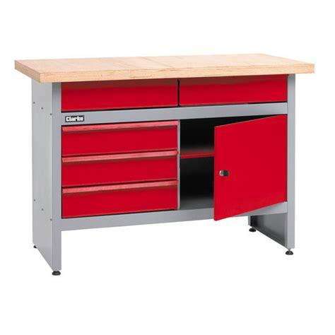 garage workbench with drawers uk clarke cwb1205p 5 drawer workbench