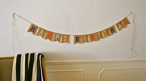 Handmade Happy Birthday Banner - elliebellie handmade burlap happy birthday banner
