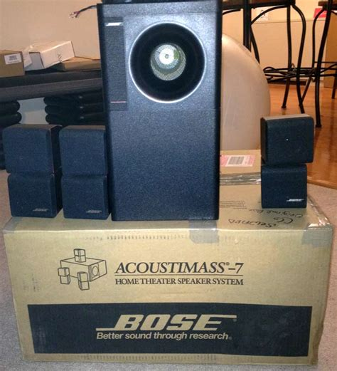 bose acoustimass 7 home theater speakers 3 cubes and bass