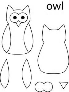 printable owl template for owl template partners for peace