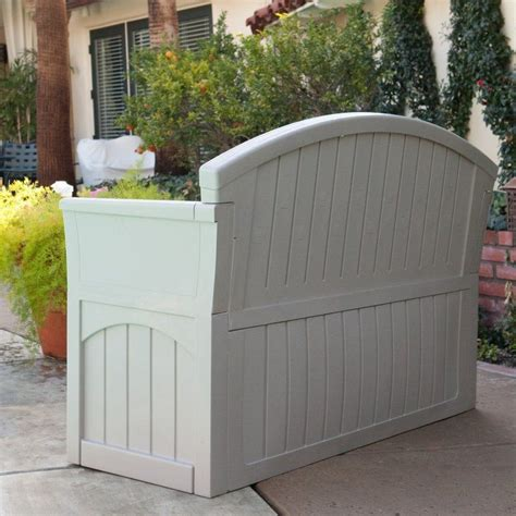 Outdoor Storage Bench Seat Outdoor Storage Bench Seat Furniture Patio Garden Yard Pool Deck 50 Gallon Resin Benches