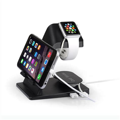 Best Quality Portable Charging Stand For Apple Hitam Bar itian portable desktop multi function usb cradle dock