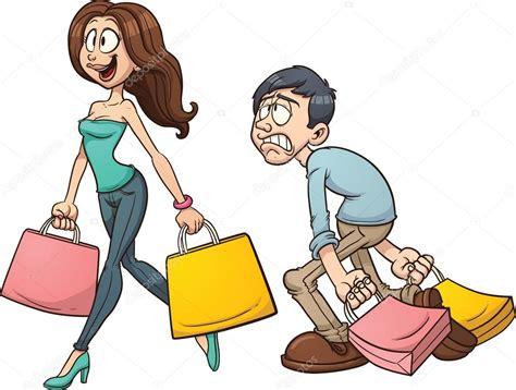 imagenes vectores compras pareja de compras vector de stock 169 memoangeles 39257215