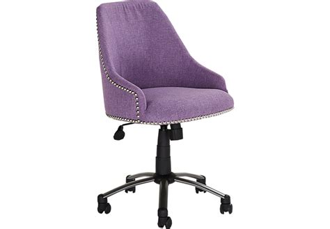 Catelina Purple Desk Chair Seating Red Purple Desk Chair
