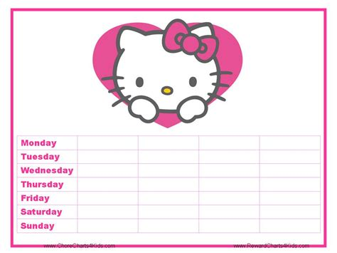 printable reward charts hello kitty hello kitty reward charts