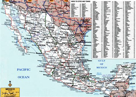 mexico detailed map large detailed roads and highways map of mexico with all