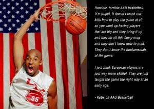 kobe bryant personal biography kobe bryant doesn t like the aau and corporate