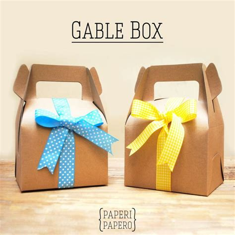 kraft gable box with a lovely ribbon suitable for every occasion kraft gable box
