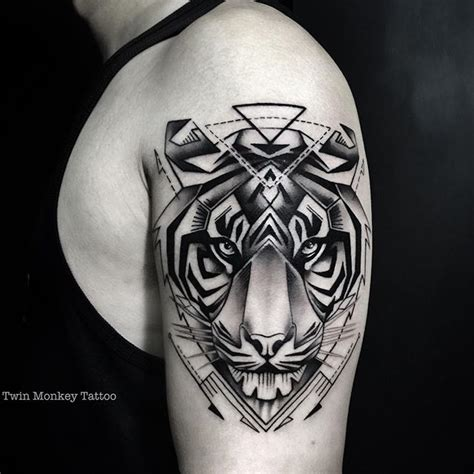 tattoo geometric dragon geometric tiger tattoo on instagram