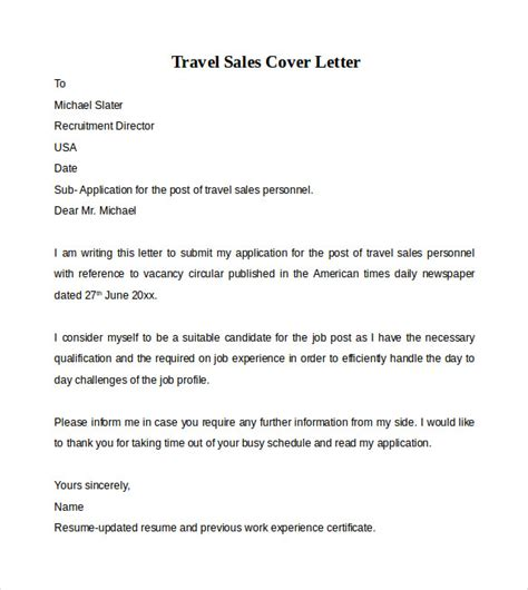 Family Consultant Cover Letter by Travel Consultant Cover Letter Exle Travel Sales Consultant Recommendation Letter The Best