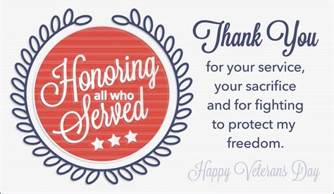 Cards For Veterans - honoring all who served ecard free veterans day cards