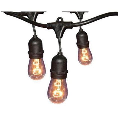 commercial string light hton bay 24 ft black commercial string light gls 14j2
