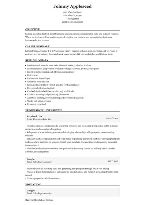 Traditional Resume by Sle Of A Traditional Resume Add More Colors To Your