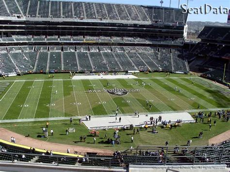 oakland county section 8 upper sideline oakland coliseum football seating